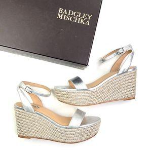 Badgley Mischka |Holmes Silver Espadrille Platform